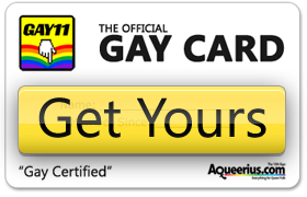 The Official Gay Card | Get Yours Today